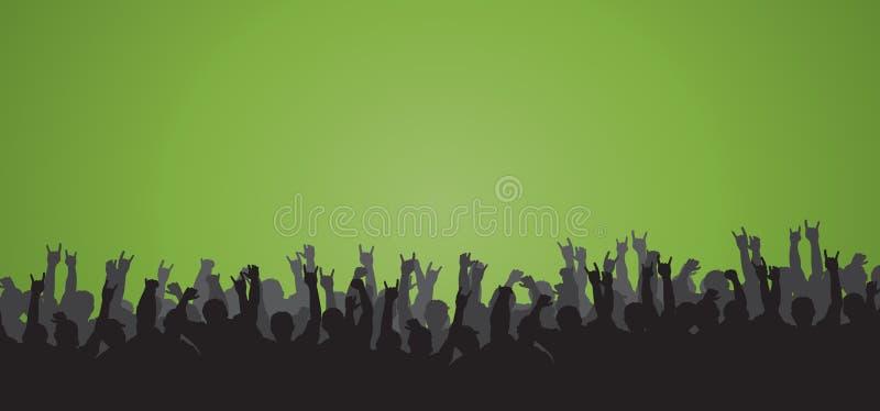 Download Cheering Crowd 12 stock vector. Image of cheering, hand - 7537250