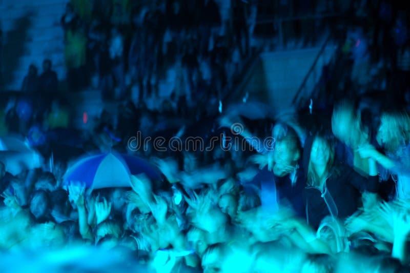 Cheering crowd stock photo