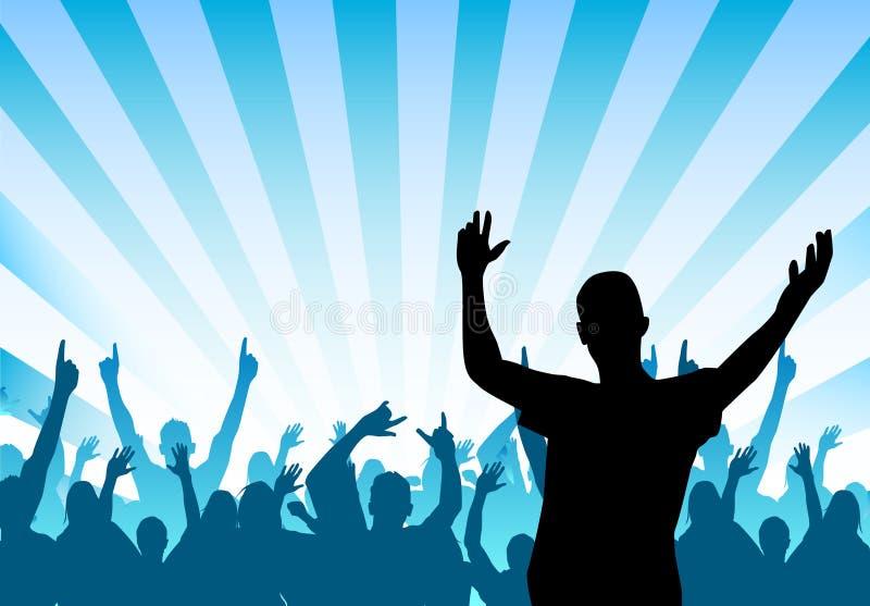 Cheering Crowd royalty free illustration