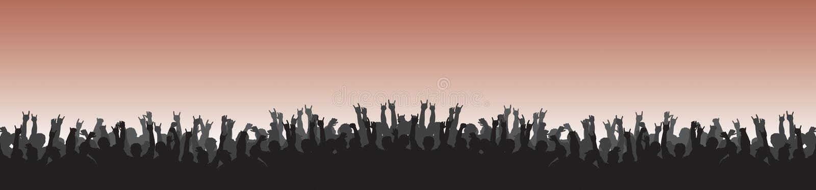 Cheering Crowd 22 Stock Photography