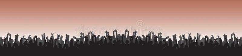 Cheering Crowd 22 royalty free illustration
