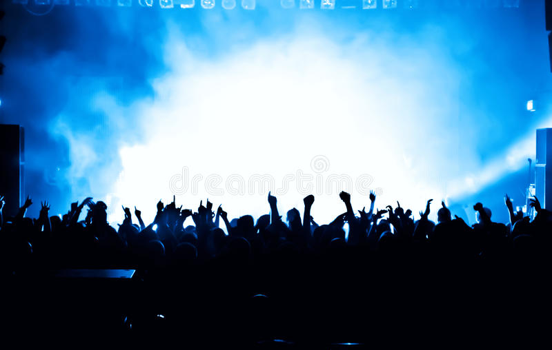 Cheering crowd stock photography