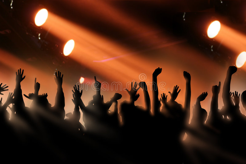 Cheering Crowd royalty free stock photography