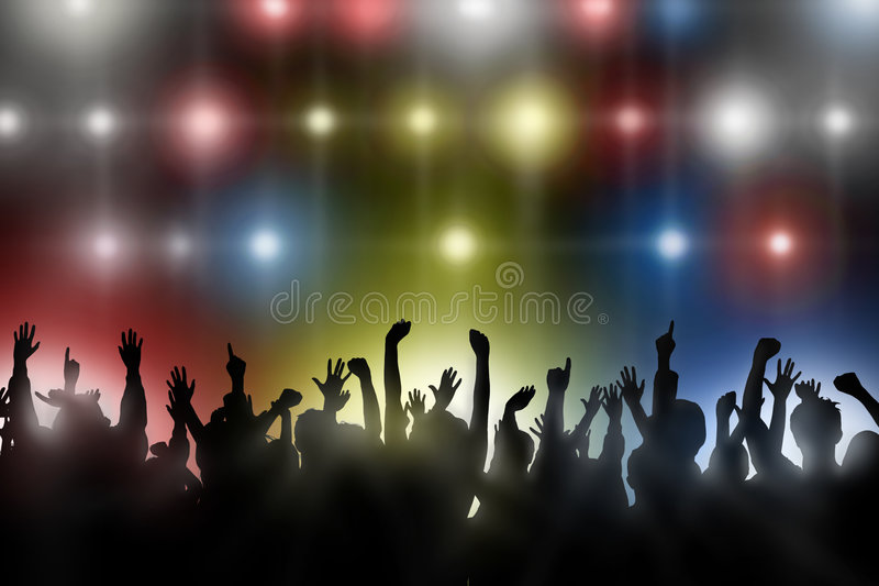 Cheering Crowd royalty free illustration
