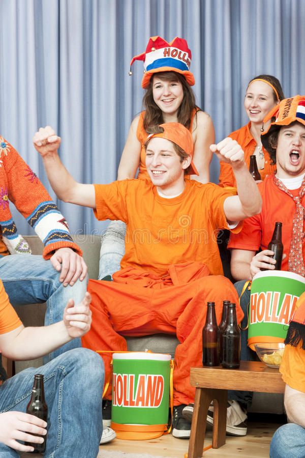 Cheering Fan Stock Photos