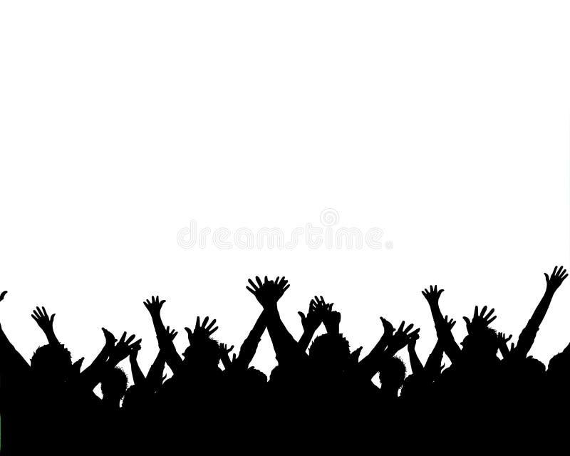 Cheering fans vector illustration