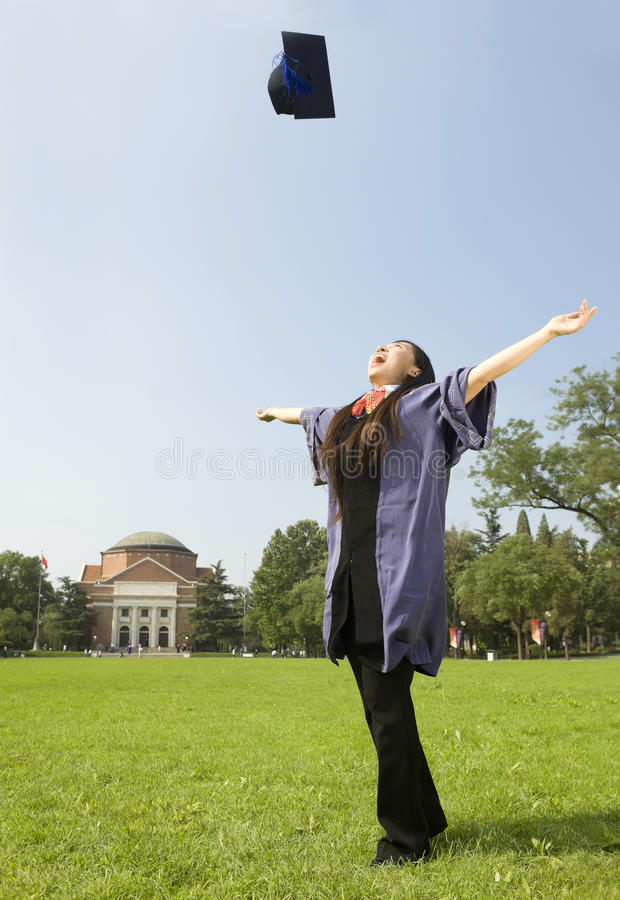 Download A cheering graduate stock photo. Image of doctor, throw - 25525224