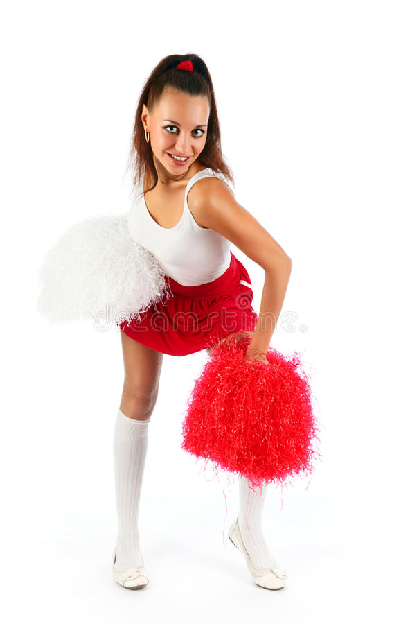 Download Cheerleader stock image. Image of isolated, competition - 11391449