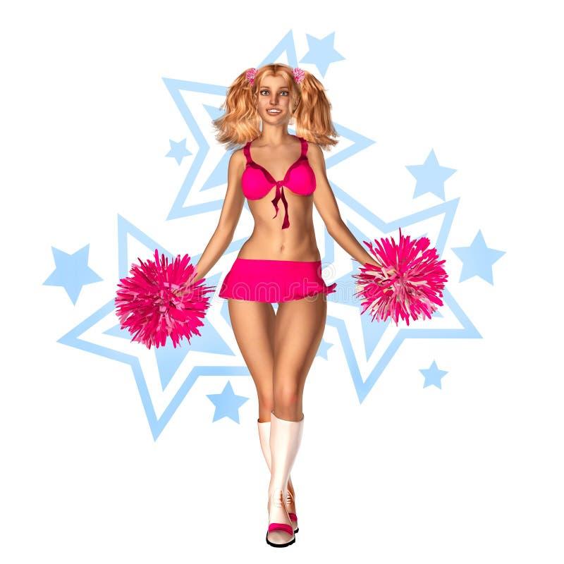 cheerleader vector illustratie