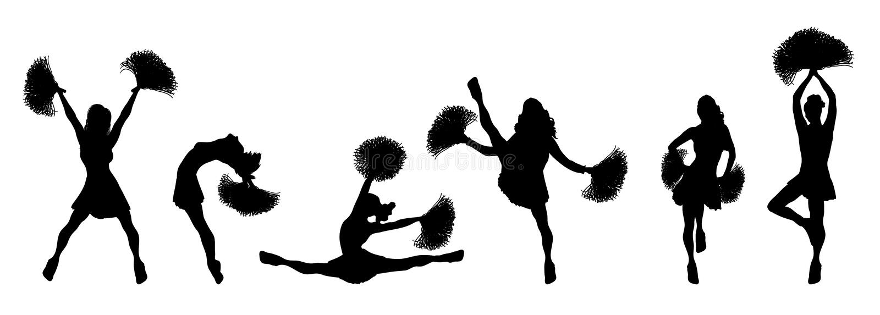 Cheerleader Banner royalty free illustration