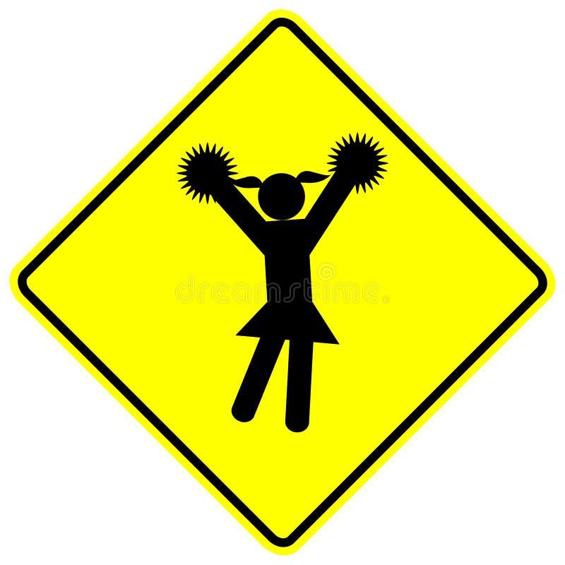 Download Cheerleader Cheerleading Girl Vector Sign Stock Vector - Image: 10075857