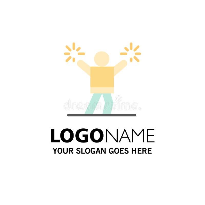 Cheerleader, Cheerleading, regen an, lockern Geschäft Logo Template auf flache Farbe stock abbildung