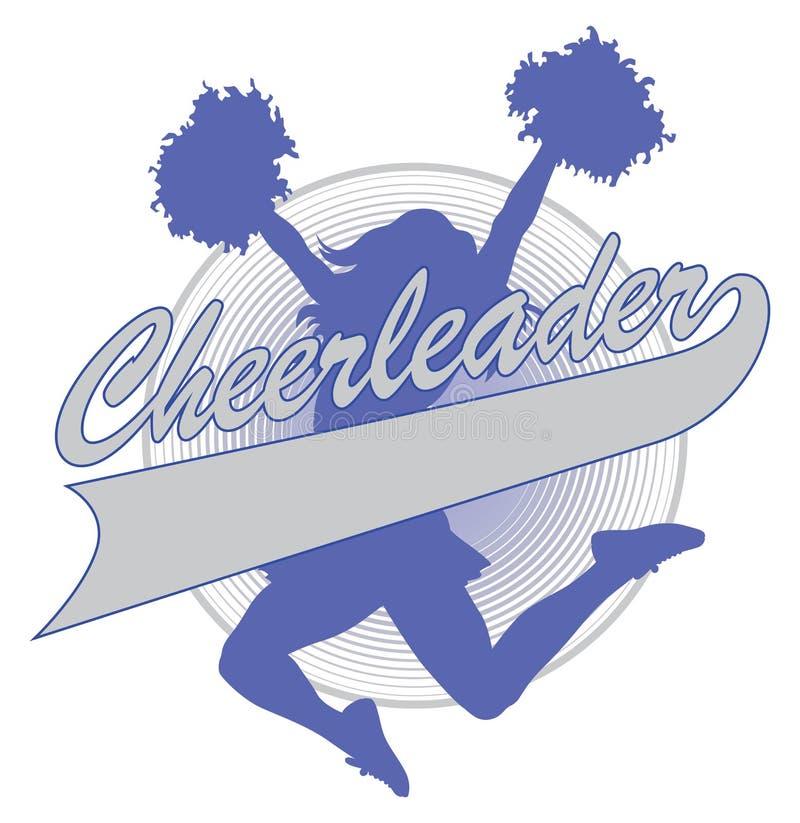 Cheerleader Design royalty-vrije illustratie