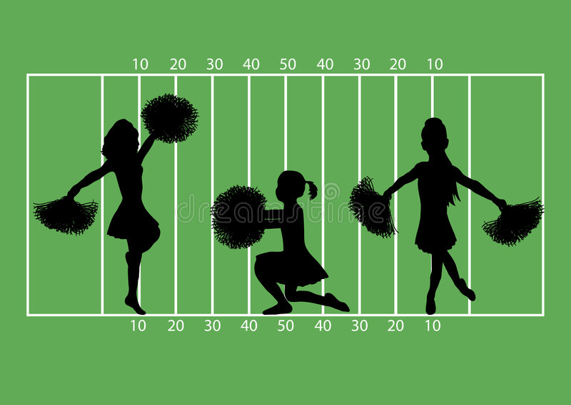 Cheerleader-Fußball 4 vektor abbildung