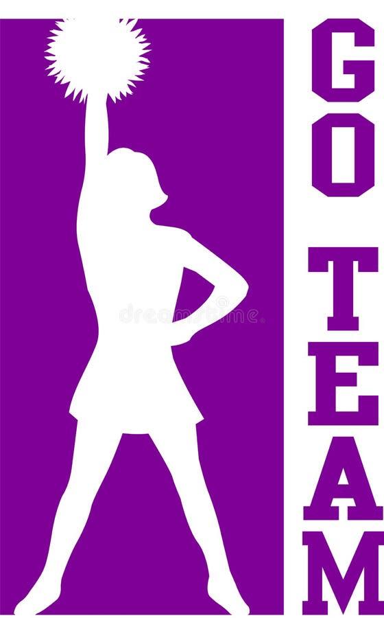 Cheerleader gehen Team Purple/EPS vektor abbildung