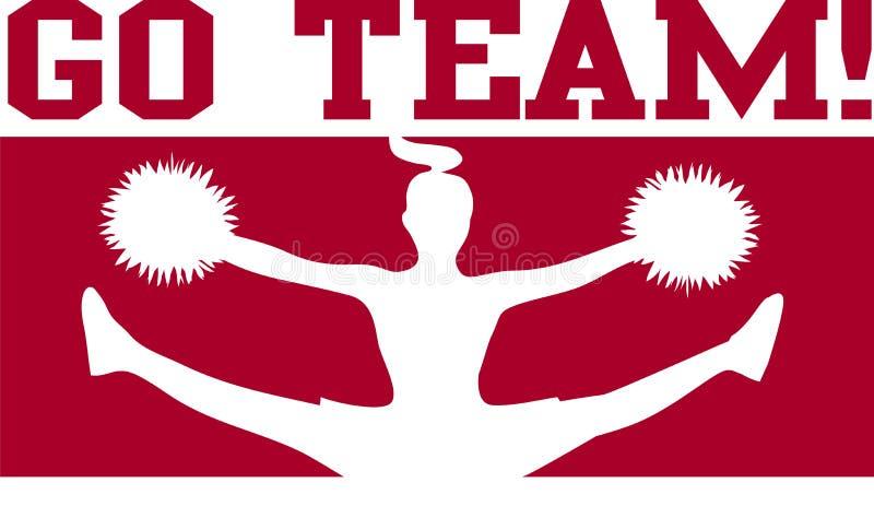 Download Cheerleader Go Team Maroon/eps Stock Vector - Illustration of athletics, jump: 6283397