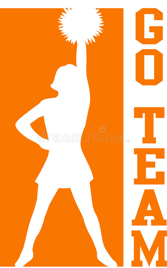 Free Cheerleader Go Team Orange/eps Stock Photos - 6275053
