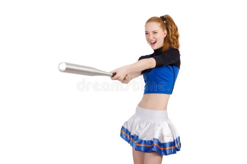 Cheerleader isolated stock photo
