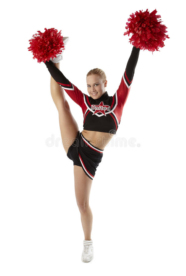 Download Cheerleader pose stock photo. Image of fitness, high - 20365004