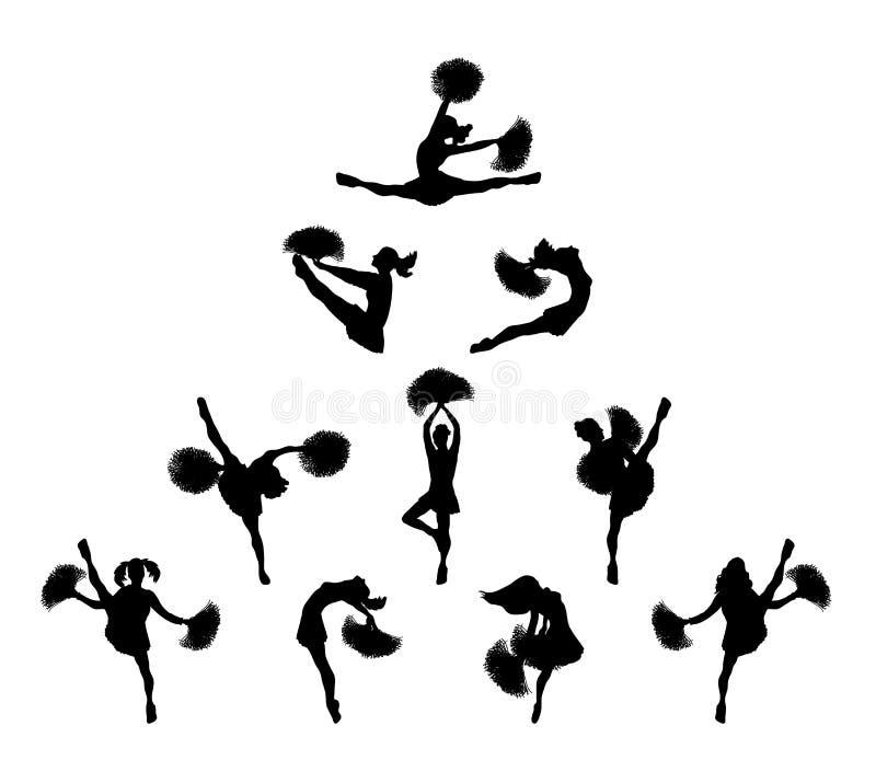 Cheerleader-Pyramide 1 stock abbildung
