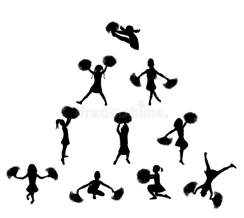 Cheerleader-Pyramide 2 stock abbildung