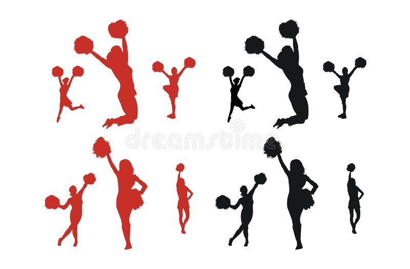 Cheerleader Silhouettes vector illustration