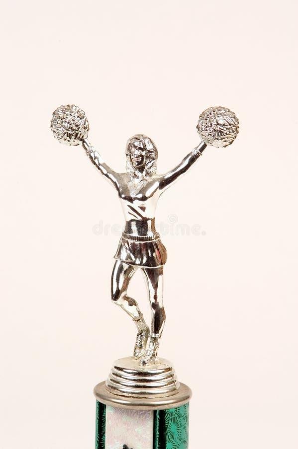 Cheerleader trophy top royalty free stock image