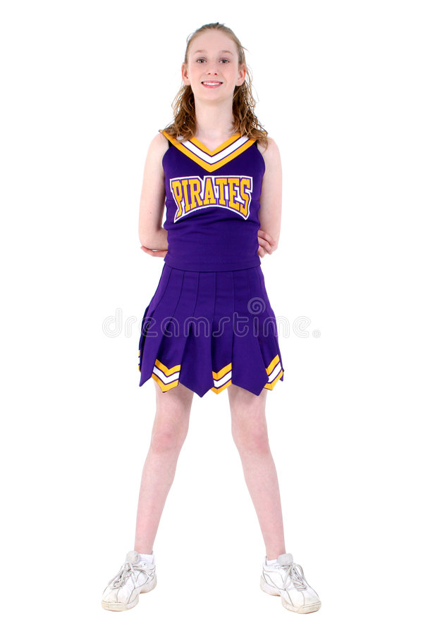Download Cheerleader With Unofficial Team Name And Colors Uniform Stock Photo - Image of collage, high: 100652