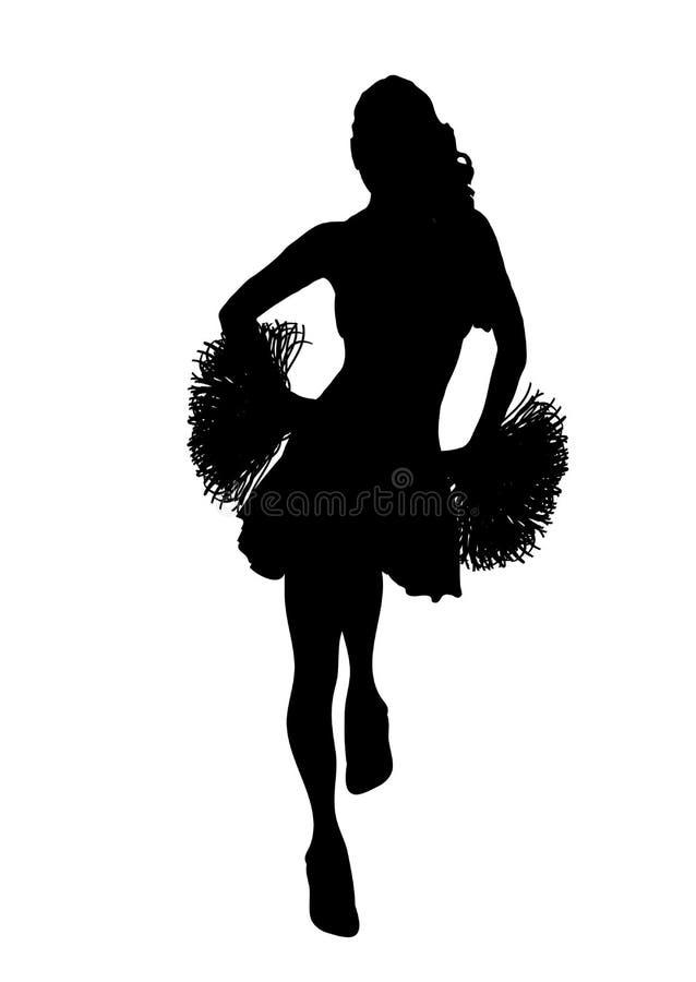 Cheerleader-Weiß 1 lizenzfreie abbildung