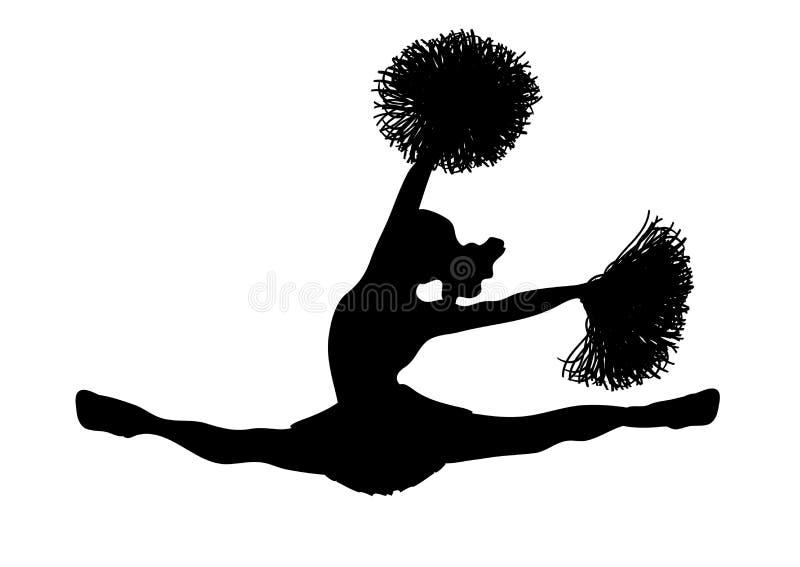 Cheerleader-Weiß 2 stock abbildung