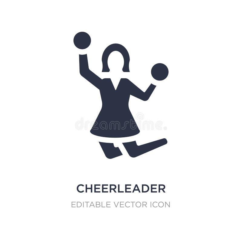 Cheerleaderikone auf weißem Hintergrund Einfache Elementillustration vom smileykonzept stock abbildung