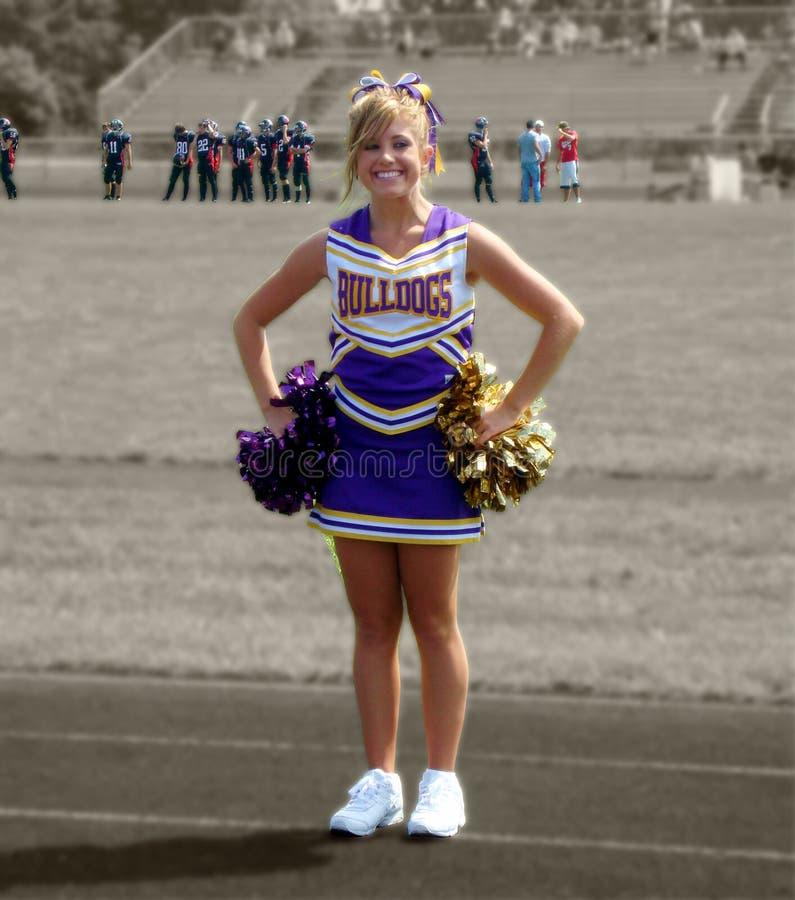 cheerleaderka uśmiecha się zdjęcia royalty free