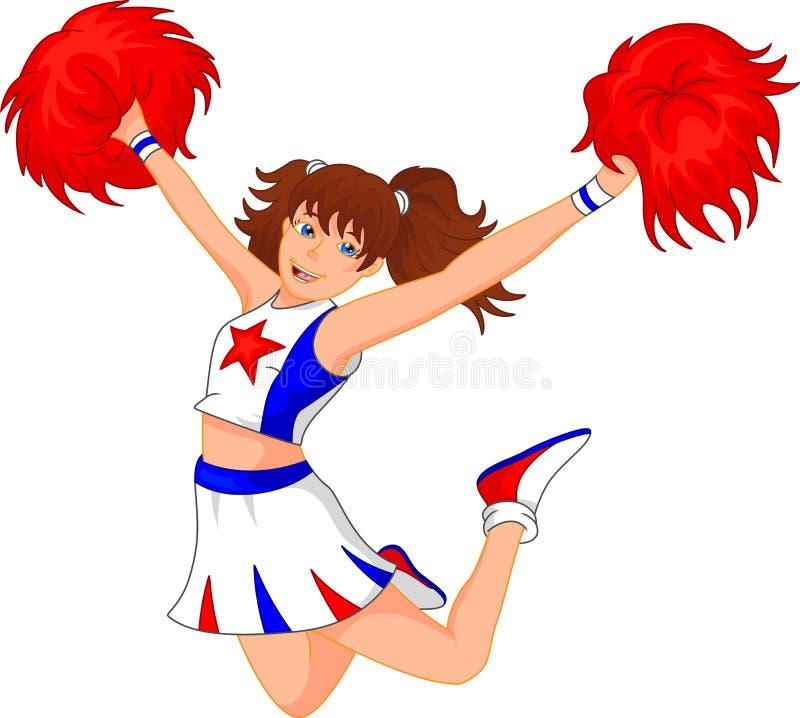 Cheerleadermädchen vektor abbildung