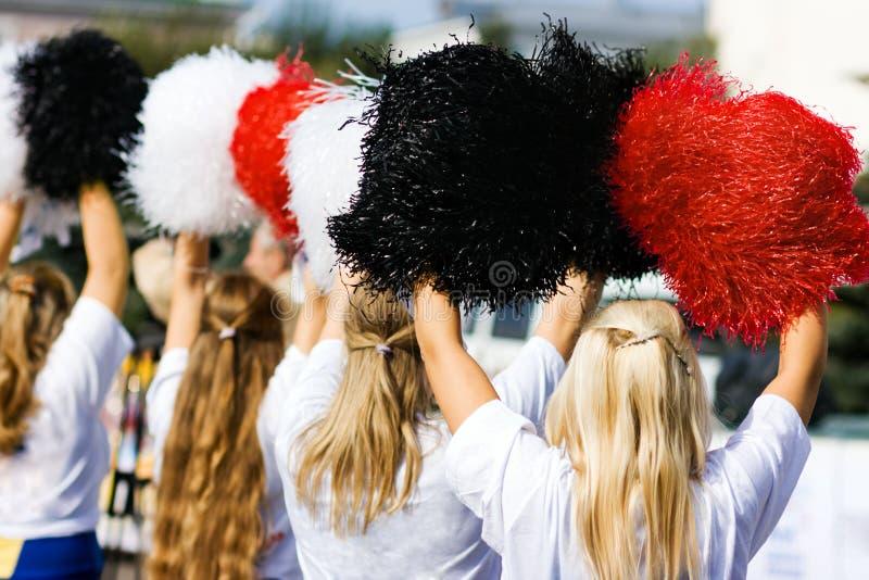 Cheerleadern stockbilder