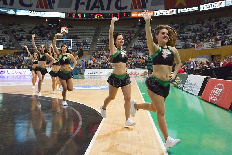 Cheerleadern stockfoto
