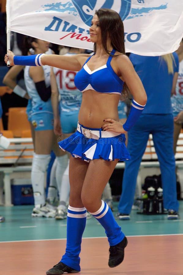 Cheerleadern des Dynamoteams stockfotos