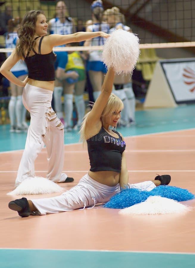 Cheerleadern des Teams des Dynamos (MSC) stockfotos