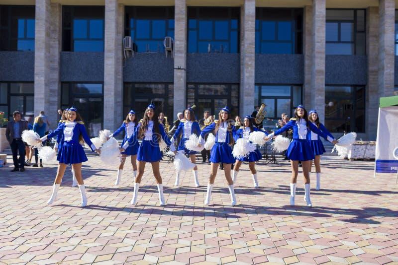cheerleaders fotografia stock