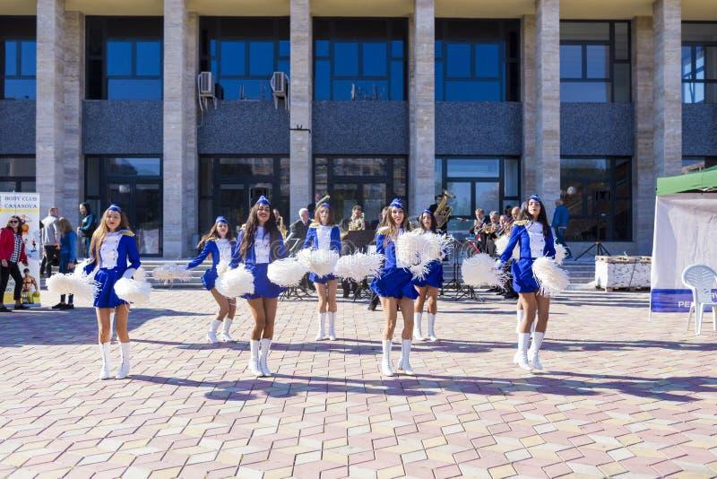 cheerleaders immagini stock libere da diritti
