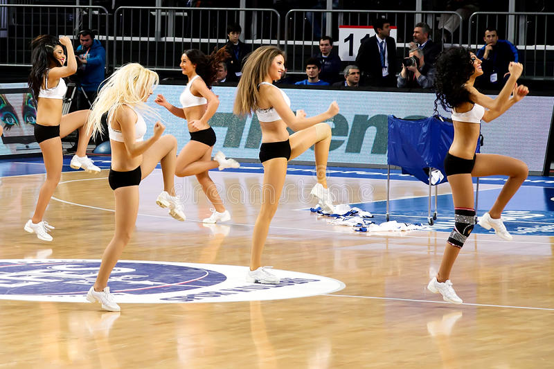 Download Cheerleaders editorial stock photo. Image of game, championship - 18887213