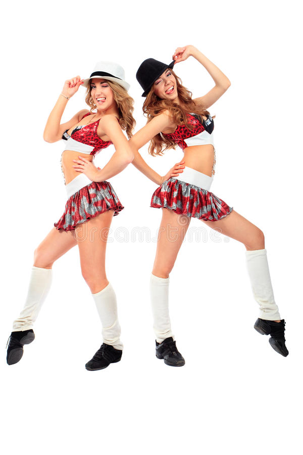 Cheerleaders stock image