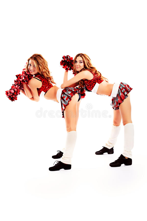 Cheerleaders royalty free stock image