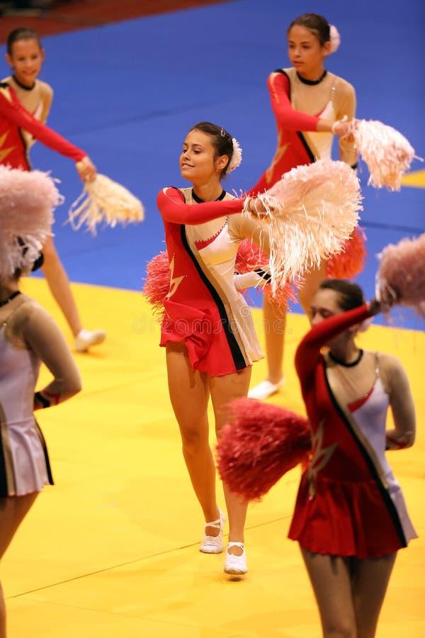 cheerleaders fotos de archivo