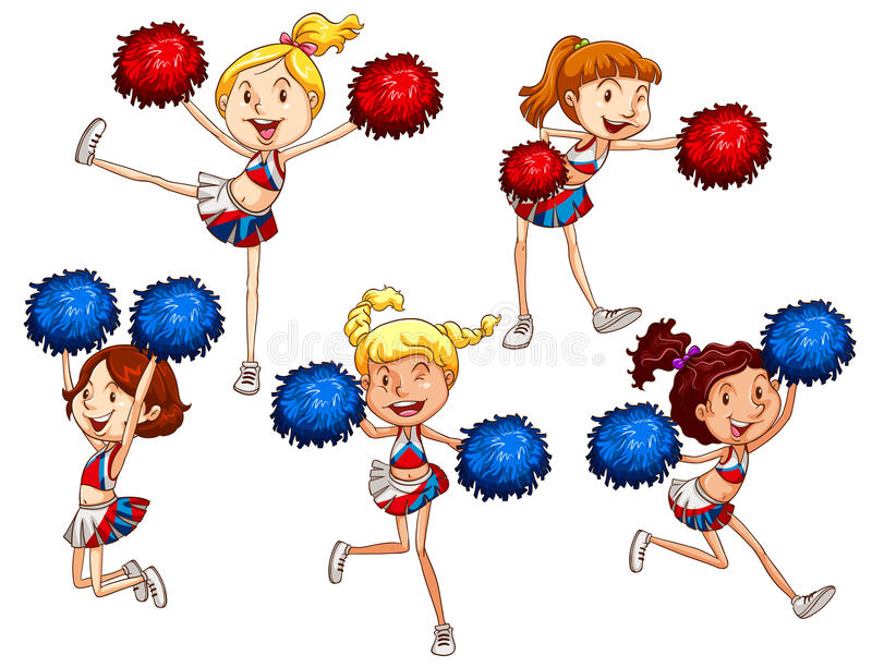 cheerleaders illustration libre de droits