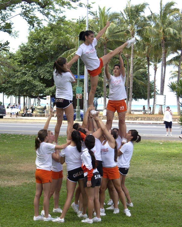 Cheerleaders royalty-vrije stock foto