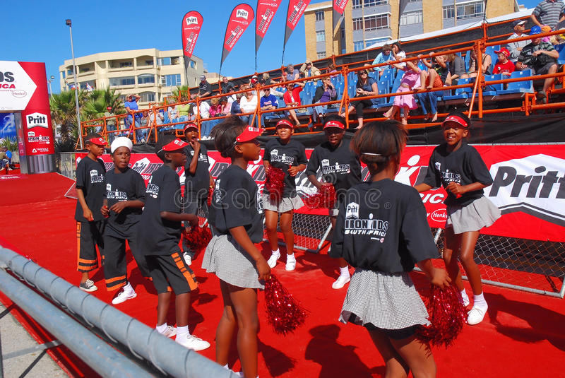 Cheerleaders Ironkids SA 2010 stock photos