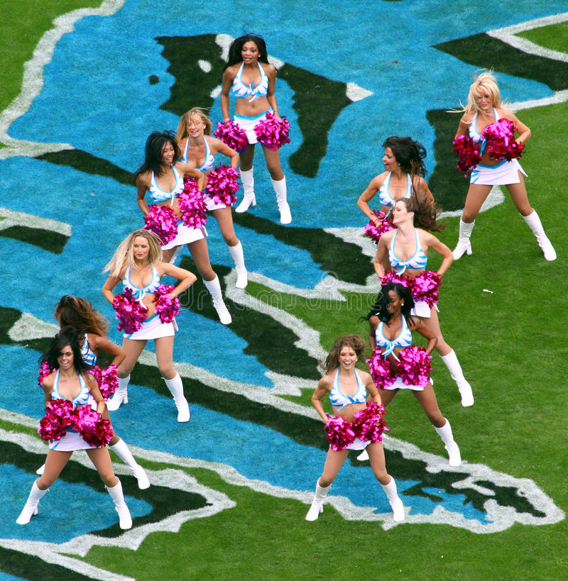 cheerleaders nfl zdjęcia stock