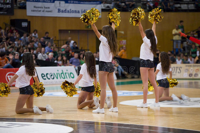 Cheerleaders royalty free stock image