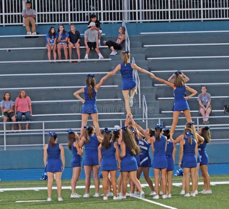 Cheerleaders praktyka obraz stock