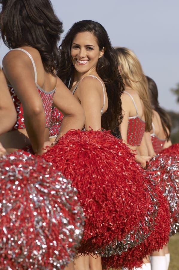 Cheerleaders In A Row royalty free stock photos